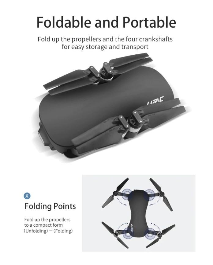 jjrc X12 GPS Foldable Drone fold