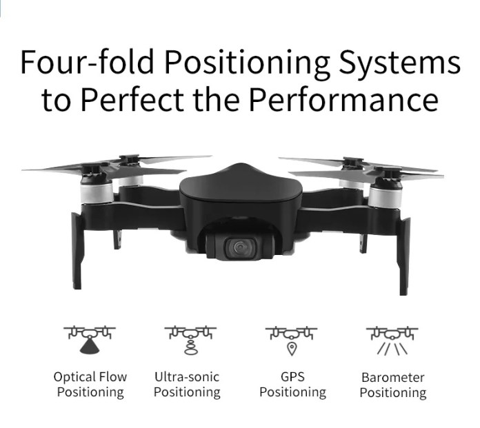 jjrc X12 GPS Foldable Drone potitioning