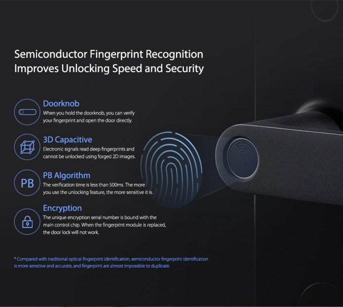 Aqara N100 Smart Door Lock fingerprint