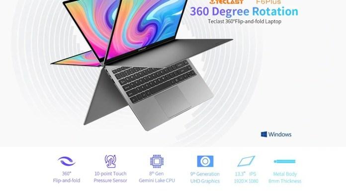 Teclast F6 Plus 360 degrees laptop