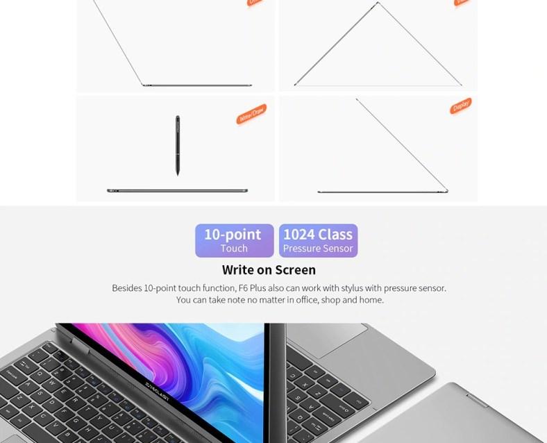 Teclast F6 Plus 360 touch screen
