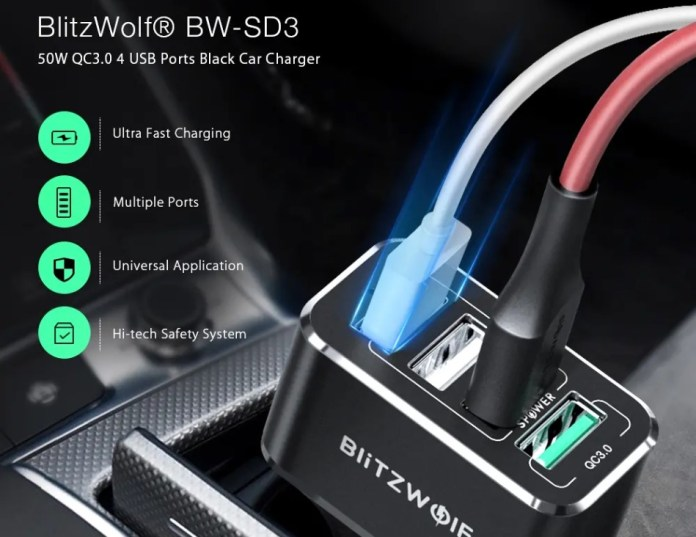 Blitzwolf BW-SD3 Car charger