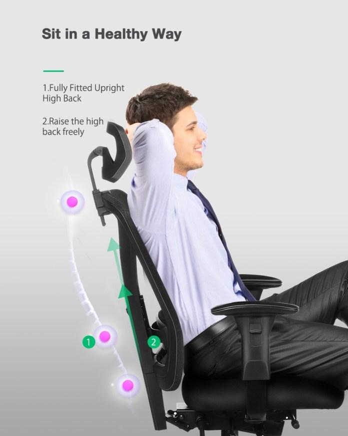 BlitzWolf® BW-HOC5 Ergonomic Design Office Chair 2