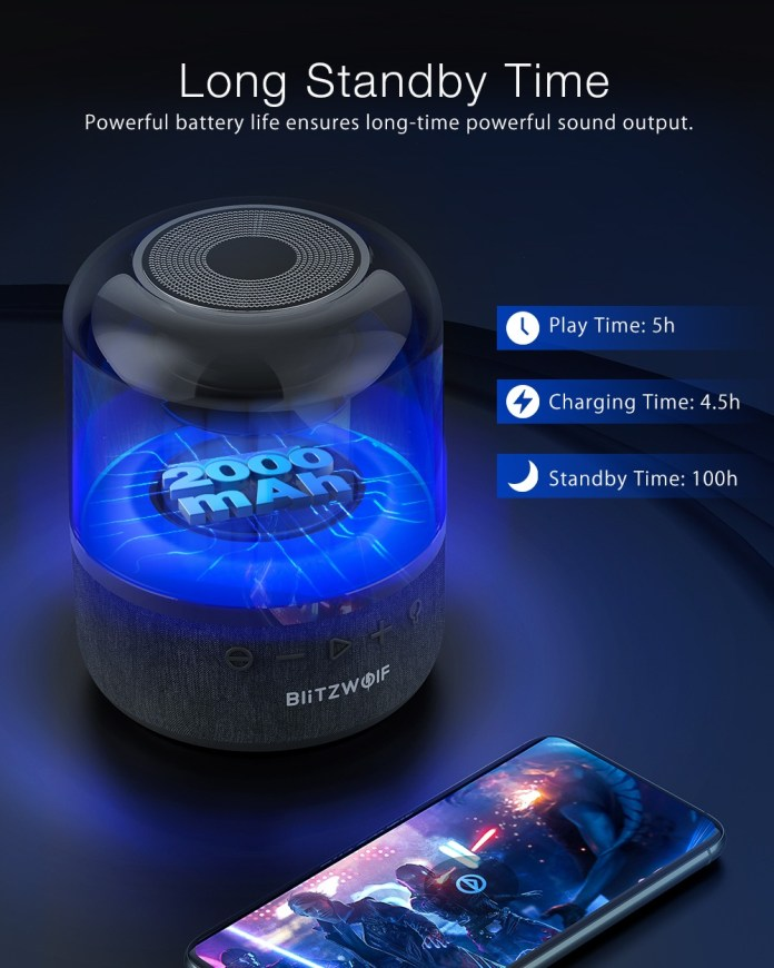 BlitzWolf BW-AS4 20W Wireless Speaker bluetooth 5.0 with 360°Stereo Sound 4