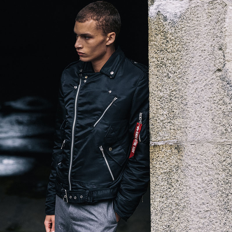 Outlaw Biker Jacket (Mens) by Alpha Industries (Non-Leather)