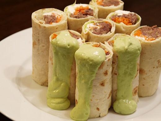 Roast Beef Salad Wraps