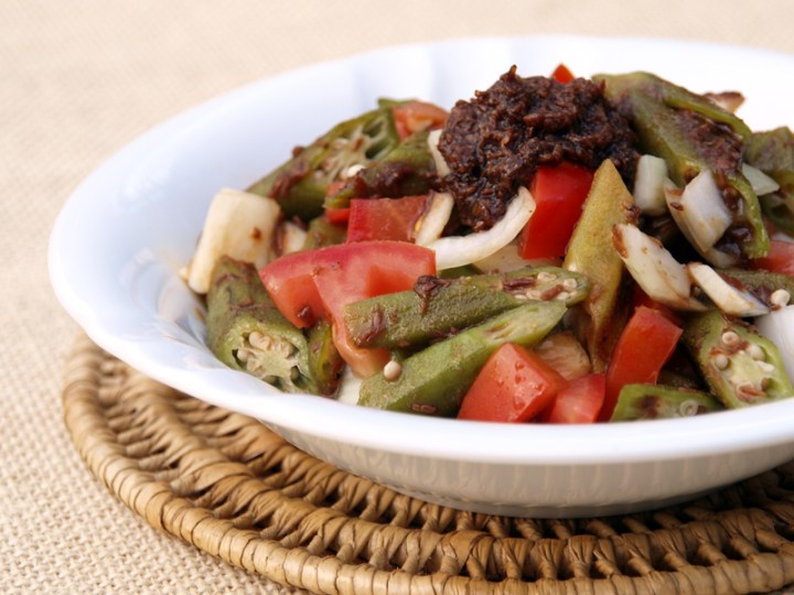 Warm Okra and Tomato Salad