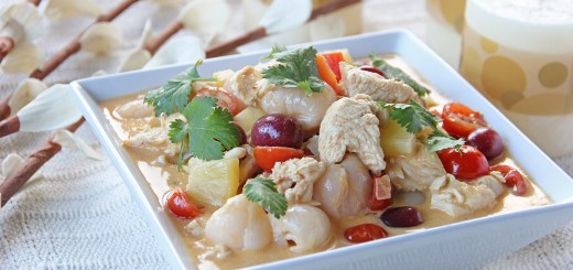 Chicken, Lychees, Grapes and Pineapple Red Curry