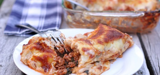 Beef and Spinach Cannelloni