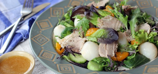 Pork Roast, Lychee and Mandarin Salad