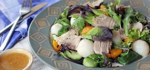 Pork Roast, Lychee and Mandarin Salad