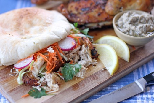 Chermoula Grilled Chicken served on Pita Bread 1
