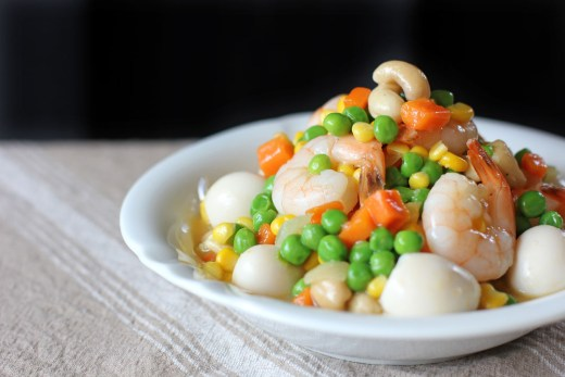 Sipo Egg (Mixed Vegetables with Shrimps and Quail Eggs) 1