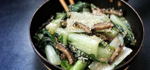 Bok Choy and Shiitake in Sesame Oil 3