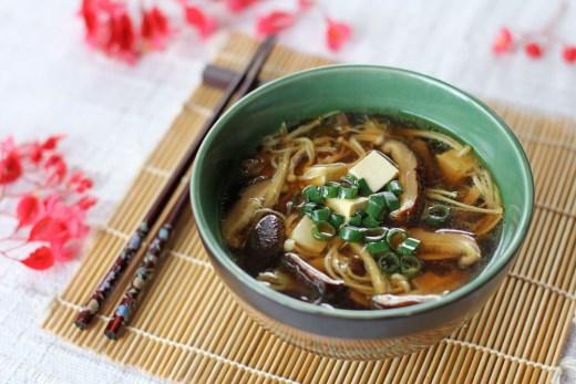 Japanese Mushroom, Tofu and Vermicelli Soup 1