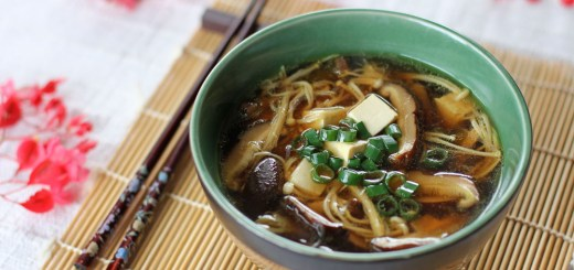 Japanese Mushroom, Tofu and Vermicelli Soup 1