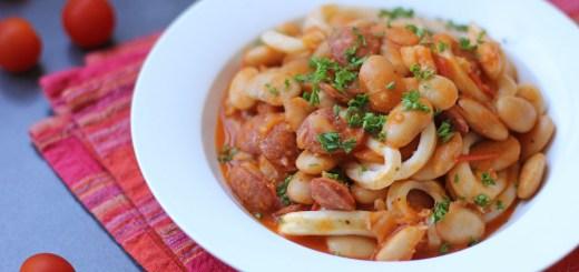 Sauté of Calamari, Chorizo and Butterbeans 1