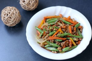 Round Bean and Carrots Stir Fry 1