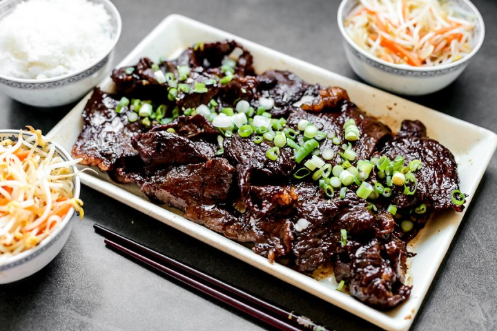 Chinese Beef with Honey and Black Pepper Sauce Wide