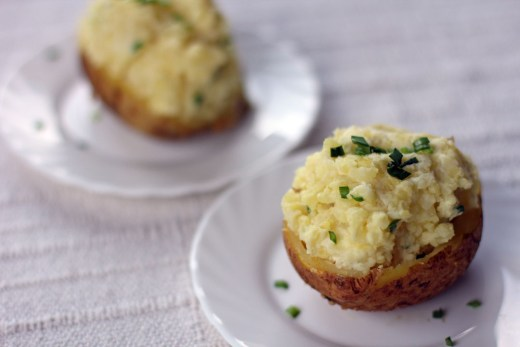 Sour Cream and Chives Twice Baked Potatoes 1