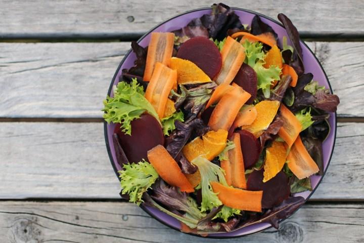 Orange, Carrots and Beet Salad Wide