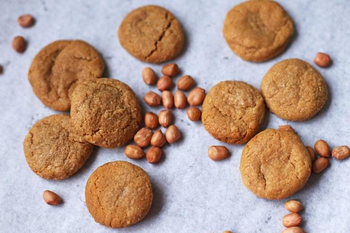 Three Ingredient Peanut Butter Cookies Wide