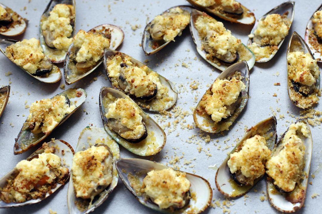 how to cook baked mussels