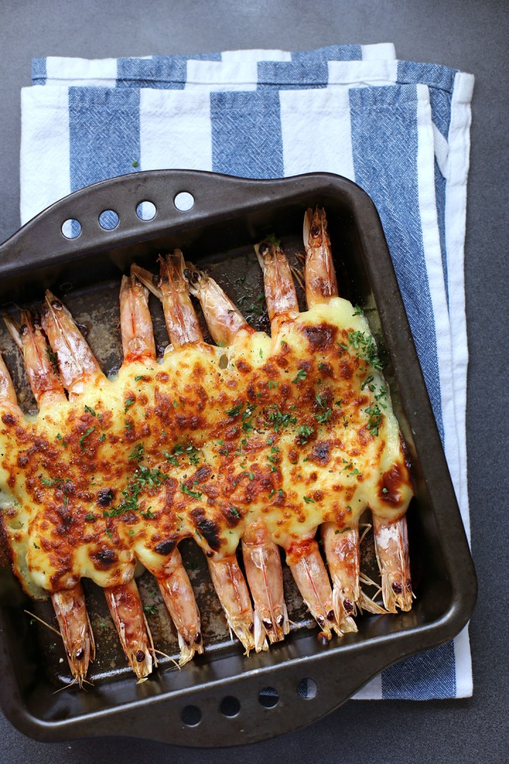 Grilled Cheese Prawns