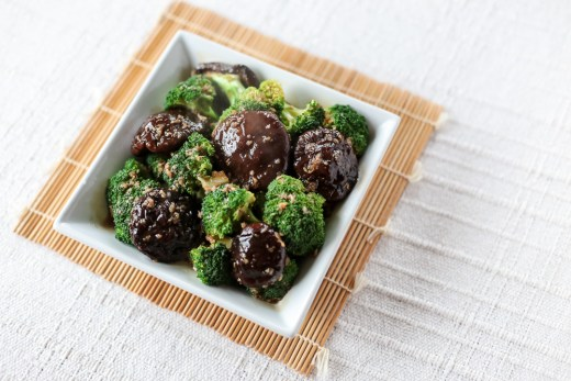 Broccoli and Shiitake in Oyster Garlic Sauce 1