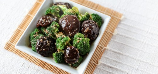 Broccoli and Shiitake in Oyster Garlic Sauce 1