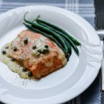 Salmon With Lemon Butter Caper Sauce 1