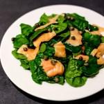 Smoked Salmon and Spinach Salad 1