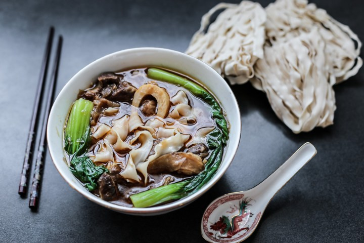 Taiwanese Beef Shank Noodle Soup Wide