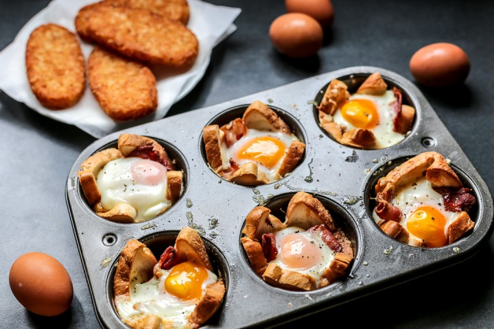 Bacon, Egg, and Toast Cups Wide