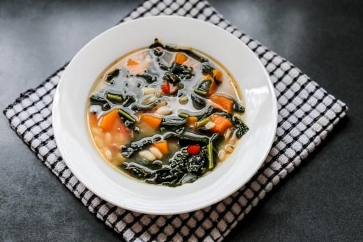 Kale, White Bean, and Butternut Squash Soup 1