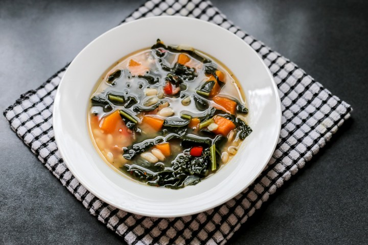 Kale, White Bean, and Butternut Squash Soup Wide