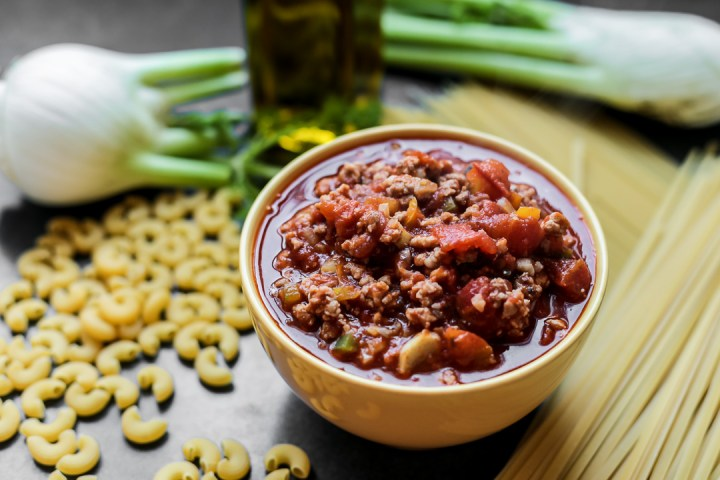 Lamb and Fennel Meat Sauce Wide