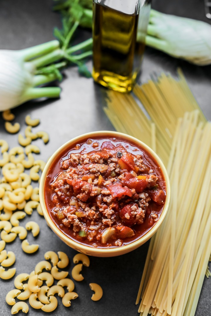 Lamb and Fennel Meat Sauce