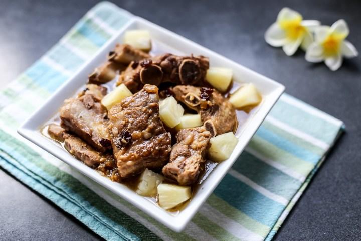 Pineapple Braised Pork Ribs Wide