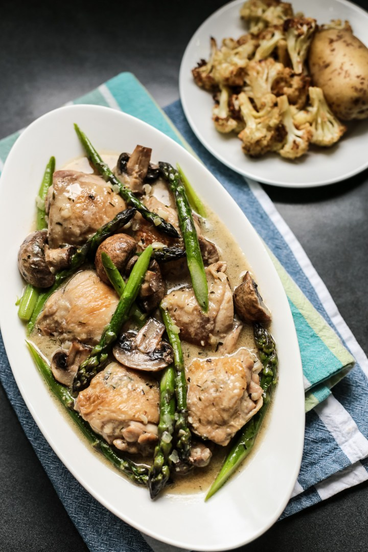 Creamy Chicken with Asparagus & Tarragon