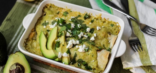 Avocado Chicken Suiza Enchilada 1