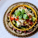 Tomato Basil Cucumber Salad with Feta Cheese and Rice 1