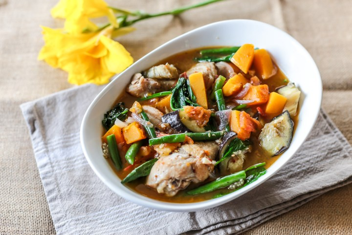 Cambodian Chicken and Vegetable Stew Wide