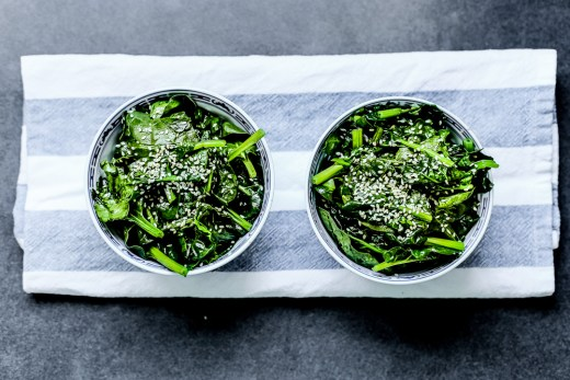 Sauteed Spinach in Sesame Oil 2