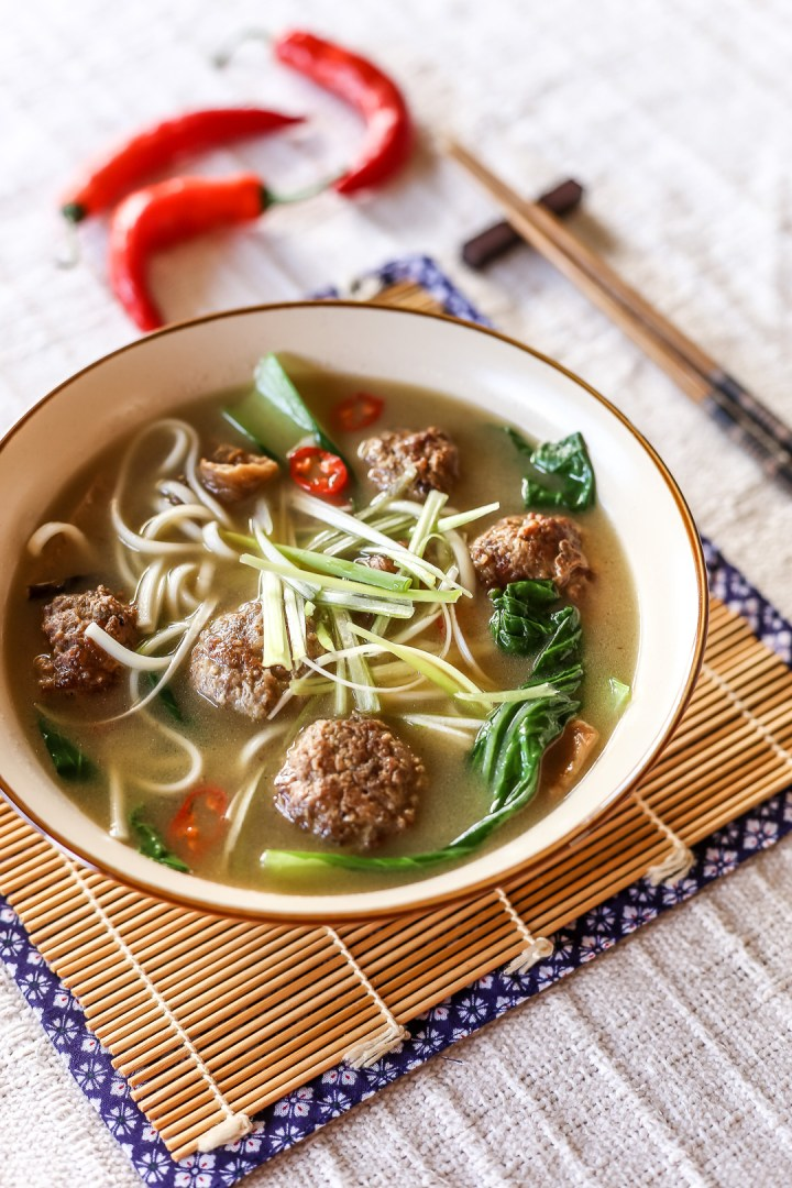 Spicy Meatball Udon Soup 2