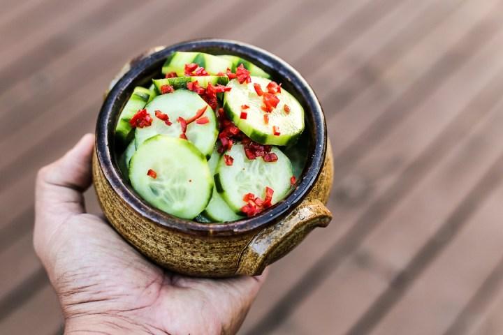 Spicy Sweet Cucumber Salad Wide_