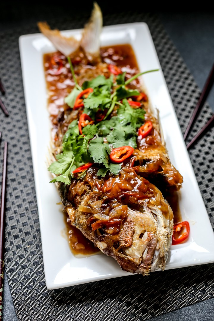 Fried Snapper in Tamarind Sauce 2