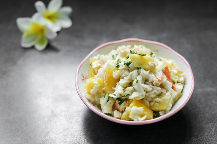 Pineapple Coleslaw Wide