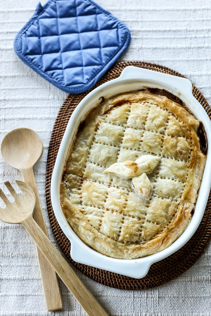 Beef, Mushroom and Cheese Pie