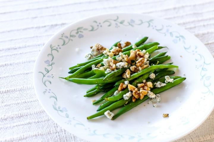 Blue Cheese Walnut Green Beans Wide